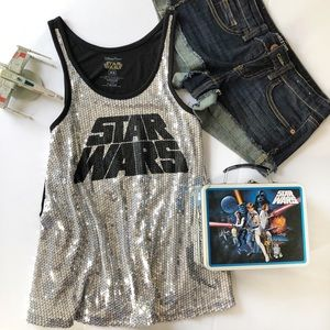 🏰 Star Wars sequined tank